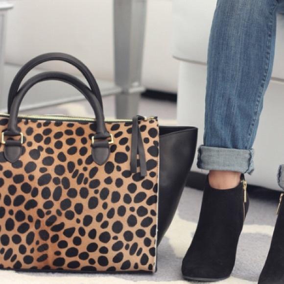 4db46f347860 Clare Vivier Bags   Clare V Sandrine Leopard Satchel Like New   Poshmark